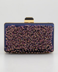 Lanvin Sea Breeze Evening Minaudiere, Navy