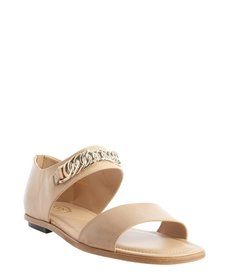 Tod's nude chain link detail sandals
