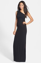 Laundry by Shelli Segal Embellished One-Shoulder Jersey Gown