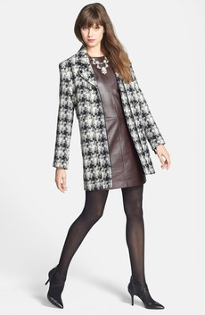 Kenneth Cole New York Plaid Tweed Coat, Halogen® Leather & Ponte Knit Dress