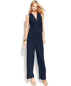 INC International Concepts Surplice-Neck Sleeveless Jumpsuit