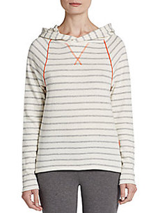 MARC NEW YORK by ANDREW MARC Performance Striped Pullover Hoodie