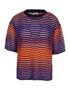 M MISSONI Lightweight sweater Multicolor Pattern Round collar Lightweight sweater Knitted not made of fur Short sleeves