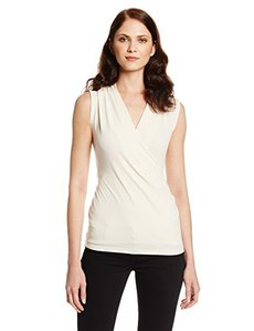Jones New York Women's Sleeveless Wrap Top-Shell
