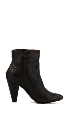 Frye Regina Heel Bootie in Brown