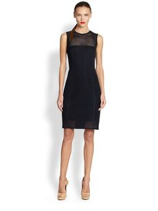 Akris Punto Mesh Sheath Dress