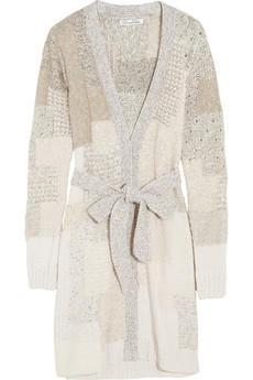 Oscar de la Renta Sequined knitted cardigan