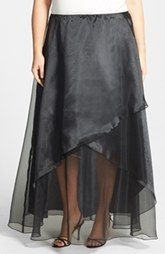 Alex Evenings Long Organza Skirt (Plus Size)
