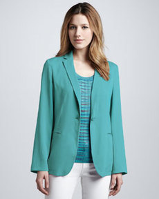 M Missoni Silk One-Button Jacket