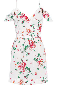 Joie Sari floral-print silk-crepe mini dress