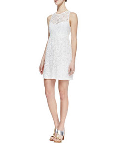 Delicate Crochet-Overlay Dress   Delicate Crochet-Overlay Dress