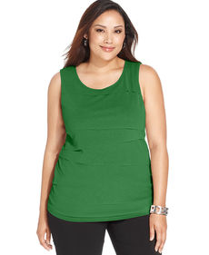 Alfani Plus Size Sleeveless Tiered Top