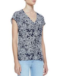 Suela Short-Sleeve Printed Top   Suela Short-Sleeve Printed Top