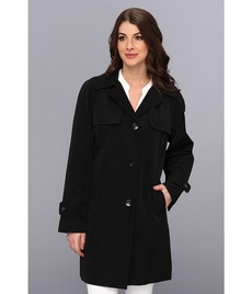Calvin Klein Single Breasted Trench Coat w/ Removable Hood