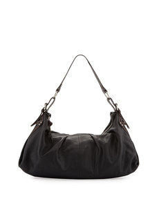 Foley + Corinna Equestrian Soft-Pleat Hobo Bag, Black/Brown