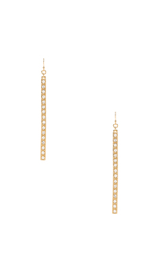 Trina Turk Pave Matchstick Earrings in Metallic Gold