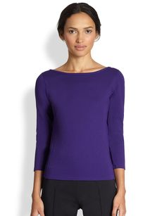 Akris Punto Boatneck Jersey Top