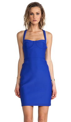 Cynthia Rowley Bonded Fitted Dress in Blue