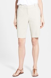 Lafayette 148 New York Stretch Cotton City Shorts