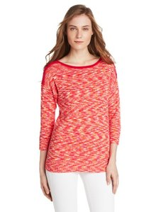 Jones New York Women's 3/4 Sleeve Boat NecK Top Pocket