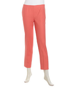 Lafayette 148 New York Cropped Stretch-Sateen Pants, Dragonfruit