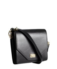 Givenchy black leather dual compartment shoulder bag