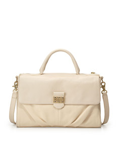 Foley + Corinna Casablanca Leather Satchel Bag, Ecru