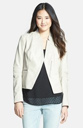 Laundry by Shelli Segal Peplum Back Cutaway Leather Jacket