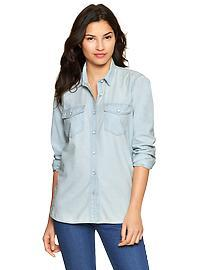1969 chambray boyfriend shirt