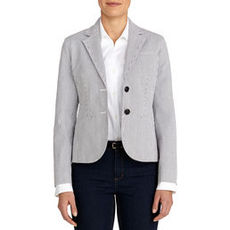 The Olivia Seersucker Two-Button Blazer