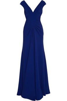 Lela Rose Ruched crepe gown