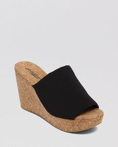Lucky Brand Platform Mule Wedge Sandals - Marilynn