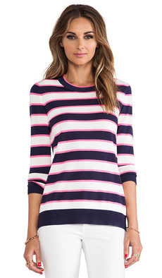 Shoshanna Striped Kim Sweater in Navy