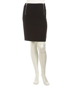 Isda & Co Side-Zip Pencil Skirt, Deep Sea