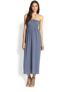 Soft Joie Acadia Halter Linen & Cotton Maxi Dress