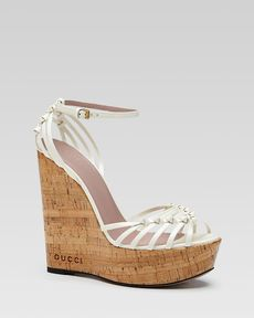 Gucci Alice Lattice Wedge