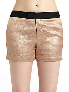 Derek Lam Satin Metallic Shorts