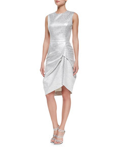 Michael Kors Sleeveless Brocade Jacquard Dress