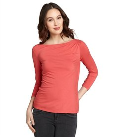 Lafayette 148 New York rosewater three quarter sleeve bateau neck top