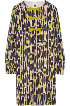 M Missoni Printed silk-crepe dress
