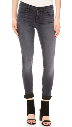 J Brand 620 Black Stocking Super Skinny Jeans