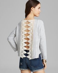 Free People Pullover - Victorian Lace
