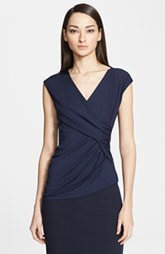 Max Mara 'Prugna' Crossover Draped Top