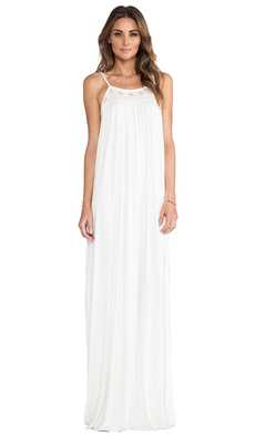 Rachel Pally Embroidered Long Dress in White