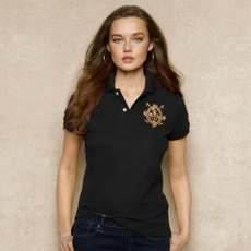 Skinny Cotton Mesh Polo