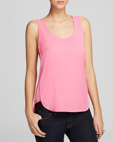 FRENCH CONNECTION Tank - Penny Plains Silk