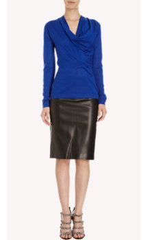 Derek Lam Cashmere & Silk Cowl-Neck Sweater