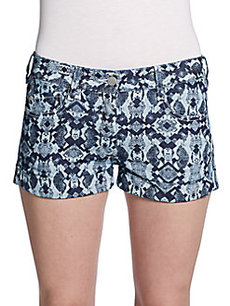 French Connection Print Jean Shorts