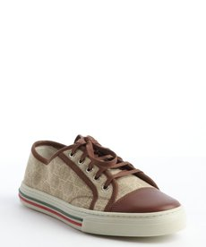 Gucci sand and brown canvas 'California Low' sneakers