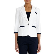 Seasonless Stretch Cotton Blazer